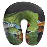 DMN U-Shaped Neck Pillow Frog Mirror Pillows Soft Convertible Portable Multifunctional For Travel Reading And Sleeping