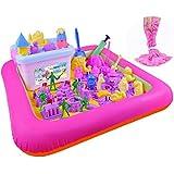 ZLFT Kids Indoor PVC Inflatable Castle Sand Box Sandbox Tray Table Fun Play Toys Random Color large ( 1 PCS)