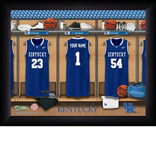 (Prints Charming College Locker Room College Kentucky Basketball Framed Posters 16x12 Inches)