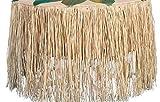 Raffia Table Skirt - LUAU Party Grass Table Skirt 9 feet x 29 inches