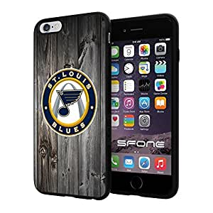 "St. Louis Blues Black Wood #1619 iPhone 6 Plus (5.5"") I6+ Case Protection Scratch Proof Soft Case Cover Protector"