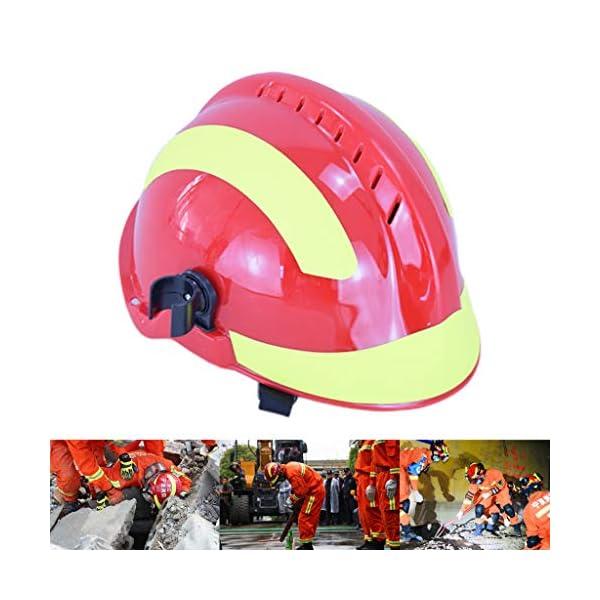 YUYUE21 Casquillo de Seguridad de protección de Casco de Rescate de terremoto con Gafas Sombrero de Bombero 4