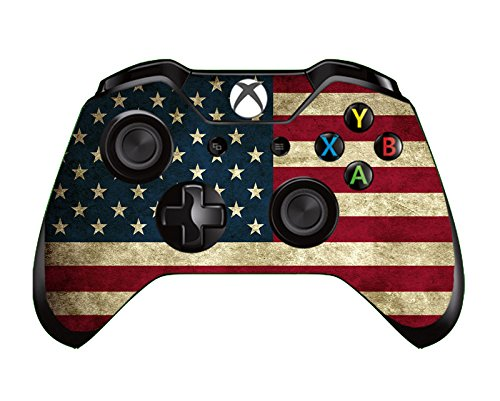 UUShop™ USA Flag Stars and Stripes Vinyl Skin Decal Cover for Microsoft Xbox One Controller wrap sticker skins