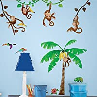 RoomMates Monkey Business Peel and Stick Wall Decals - RMK1676SCS