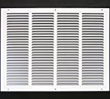 20''w X 16''h Steel Return Air Grilles - Sidewall and Cieling - HVAC DUCT COVER - White [Outer Dimensions: 21.75''w X 17.75''h]