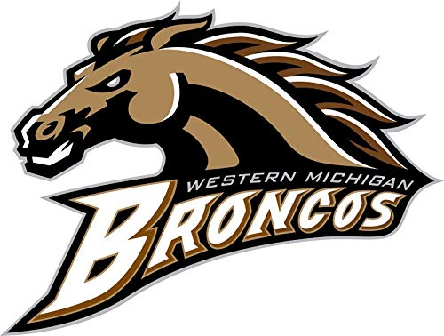 Crazy Discount Western Michigan Broncos NCAA Vinyl Sticker Decal Outside Inside Using for Laptops Water Bottles Cars Trucks Bumpers Walls, 11