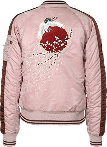 Alpha W 1 Ma Silver Bomber Souvenier Giacca Pink Industries IwIrv