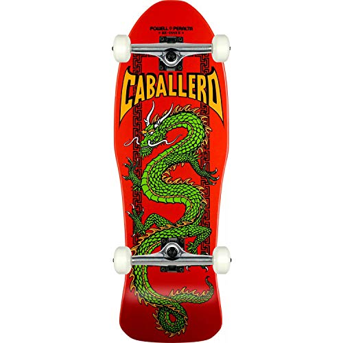 (Powell-Peralta Skateboard Caballero Cab Chinese Dragon Red RE-Issue Assembled)