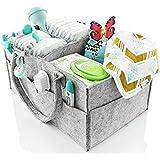 Baby Diaper Caddy Storage Organiser, Nursery Storage Bin and Car Organiser for Diapers and Baby Wipes   Great