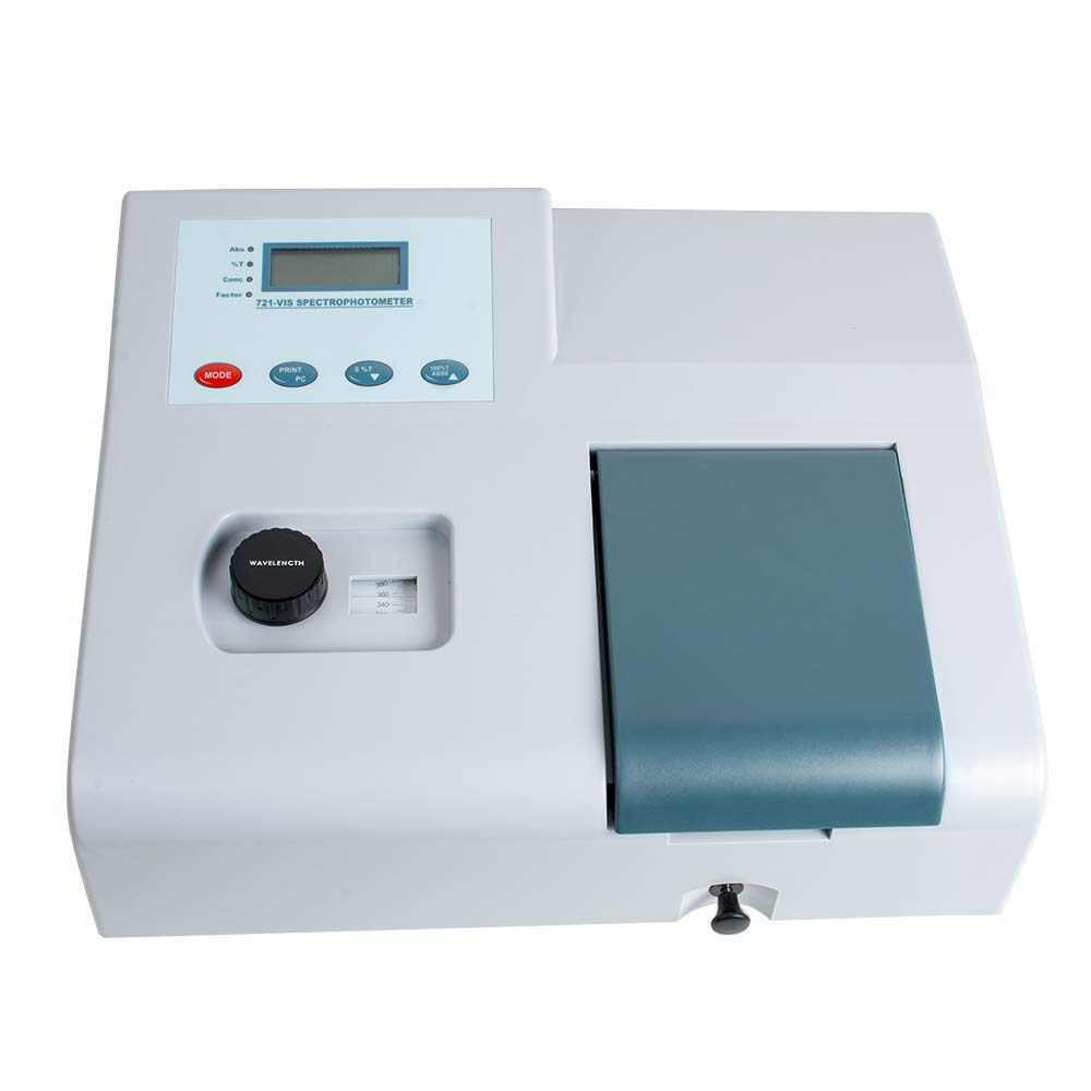 funwill UV VIS Spectrophotometer 721 LDC Digital Lab Spectrophotometer 350-1020nm Tungsten Lamp Lab Equipment