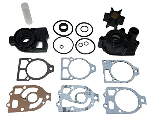 (Mercruiser Complete Seawater Impeller Repair Kit with Housing and Base for Mercruiser Mc-1/R Drives)