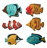 AAA 13832 6 pc. Tropical Fish Assortment - Realistic Toy Sea Life