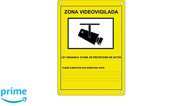 Camtronics Cartel CCTV, Cartel de plástico Exterior ...