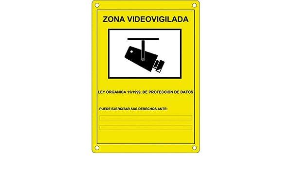 Camtronics Cartel CCTV, Cartel de plástico Exterior Serigrafiado según normativa LOPD: Amazon.es: Electrónica