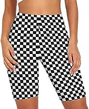 "Hopgo Biker Shorts for Women High Waist Print 7"" Yoga Shorts Workout Cycling Compression Comfy Pants T"