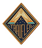 #9: Asilda Store Traveler Embroidered Sew or Iron-on Patch - Perfect for Backpack and Jackets - For Your Type of Fun [Adventure, Outdoor, Camping, Hiking, Travel] - Cute Vintage Looking Embroidered Badge