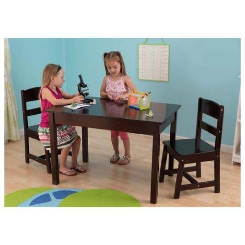 KidKraft Rectangle Table and 2 Chair Set - Espresso by KidKraft (Image #2)