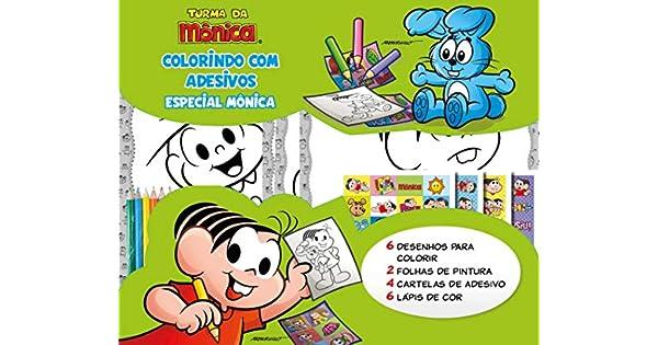 Turma Da Monica Colorindo Com Adesivos Especial Monica Livros