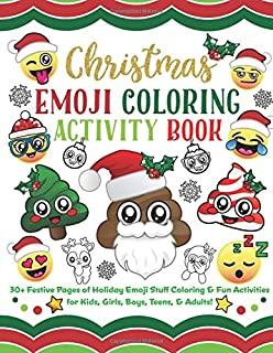 christmas emoji coloring activity book 30 festive pages of holiday emoji stuff coloring