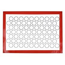 WQYK 12*16inch Non-Stick Rolling Glass Fiber Silicone Baking Mat Heat-Proof Baking Sheet Placemat of Bakeware (red)