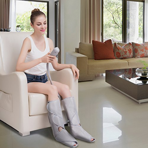 FIT KING Air Compression Leg Massager for Foot and Calf Circulation Massage with Handheld Controller 2 Modes 3...