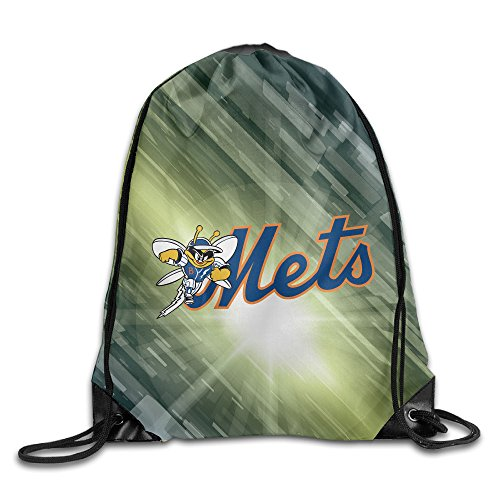 HROSE Mascot Mets Drawstring Backpack Bag Training Gymsack For Men & Women Sackpack - Great For Home Travel Sport Everyday Storage (Great America Halloween Schedule)