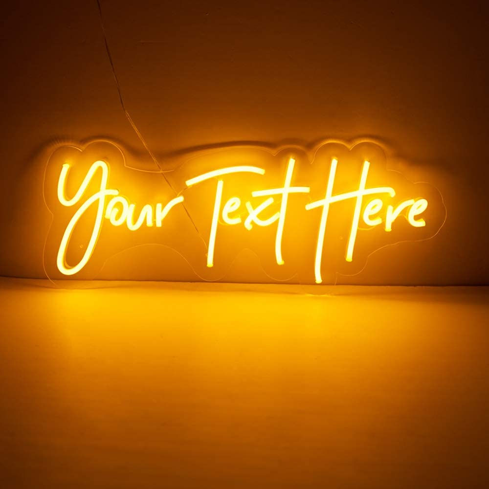 JadeToad Custom Led Neon Light Signs Individual Personalized Design for Wall Decor Bedroom Indoor Use (Customization: Sizes, Text Lines, Colors, Font Styles, Backboards, etc.) (1 Line Text, 30