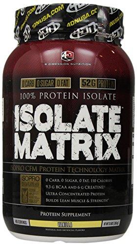 UPC 856036003252, 4 Dimention Nutrition Isolate Matrix, Vanilla, 3 Pound