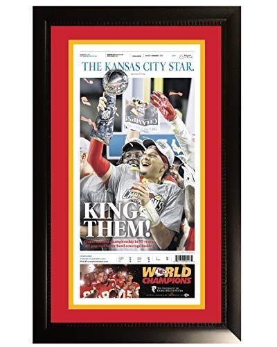 Kansas City Chiefs Super Bowl 54 LIV Champions Original Front Page KC Star Framed Newspaper With Patrick Mahomes 2/3/20