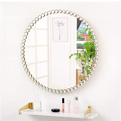 Rxy Mirror Wall Mounted Wrought Iron Dressing Mirror Living Room