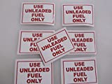 8 USE UNLEADED FUEL ONLY Sticker LOT for Airplane Race Boat Rental Car Window Decal Bumper Sticker LAwn Equipment