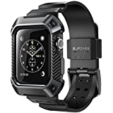 Apple Watch 3 Case, SUPCASE [Unicorn Beetle Pro] Rugged Protective Case with Strap Bands for Apple Watch Series 3 2017 Edition [42mm, Compatible with Apple Watch 42mm 2015 2016 ] (Black)