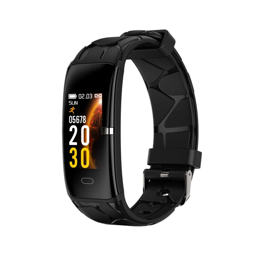 Smart Watch for Android/iOS,Jchen IP67 Waterproof Touchscreen Men Women Heart Rate Blood Pressure Monitor Smart Watch Fitness Sport Smart Watch Best Gift for Birthday or Father's Day (Black)