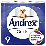 Andrex Quilts Toilet Roll Tissue Paper - 9 Rolls
