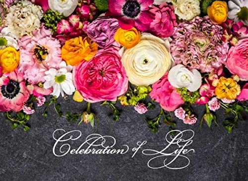 Celebration of Life: Floral Funeral Guest Book