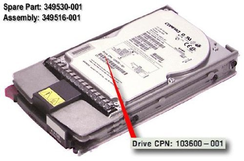 HP 349530-001 4.3GB hot-plug Wide Ultra2 SCSI hard drive - 7,200 RPM - Includes 1-inch, 80-pin drive tray