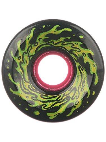 Santa Cruz Slime Balls 60mm OG Slime 78a Skateboard Wheels (Black)