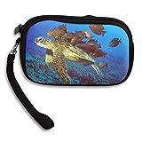 WCVRUT Unisex Clutch Wallet For Woman Ladies -Turtle And Fishes Animal Long Purse Bag Men Gentlemen