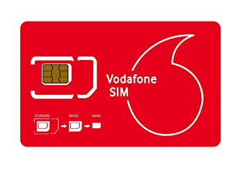 No Contract Vodafone - Tarjeta SIM con Datos de 4 GB: Amazon ...