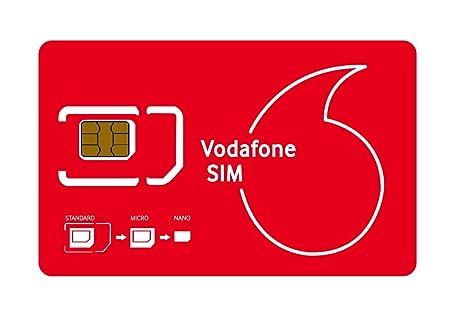 No Contract Vodafone - Tarjeta SIM con Datos de 4 GB: Amazon.es ...
