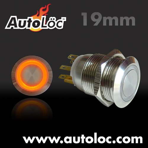 Billet Ring (AutoLoc Power Accessories 511 19mm Latching Billet Button with LED Orange Ring)