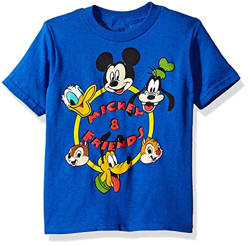 Disney Toddler Boys' Mickey Mouse Short Sleeve T-Shirt, Royal, 5T