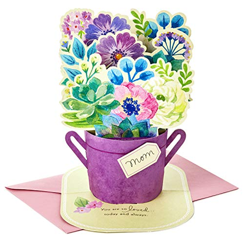 (Hallmark Paper Wonder Mothers Day Pop Up Card for Mom (Blue Flower Bouquet, You Are So Loved) )