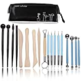 TWBB Polymer Clay Tools,18 pcs Sculpture Shaping Tools Modeling Clay Sculpting Tools Kits for Pottery Sculpture,Sculptural Supplies Kit with a Case