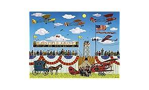 Buffalo Games - Charles Wysocki - Mansfield Air Spectacular - 1000 Piece Jigsaw Puzzle