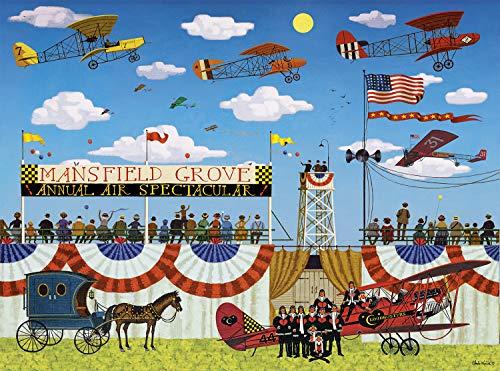 1000 Piece Jigsaw - Buffalo Games - Charles Wysocki - Mansfield Air Spectacular - 1000 Piece Jigsaw Puzzle