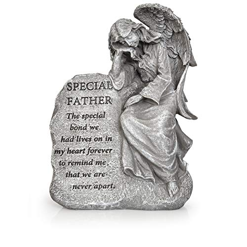 Besti Garden Memorial Stone Angel Statue - Special Father Stone Angel with Inspirational Quote ()
