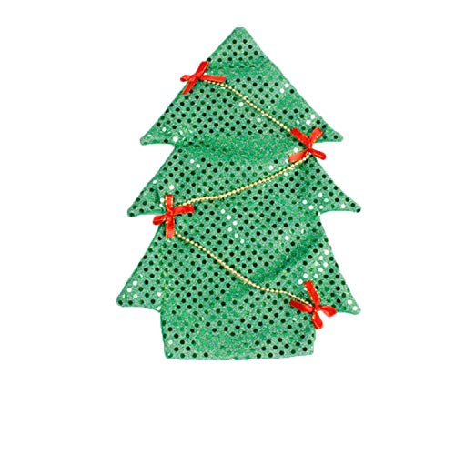 FANRENYOU Christmas Decor for Home Xmas Wine Bottle Bag Cover Santa Claus Deer Bottle Clothes Green Tree