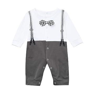 Newborn Infant Baby Boy Girl Warm Cotton Romper Jumpsuit Bodysuit Clothes Outfit