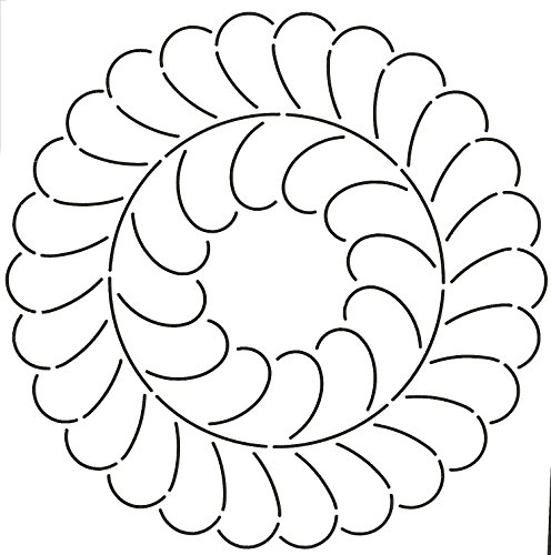 """Quilting Creations Feather Circle Quilt Stencil, 10-1/2"""""""